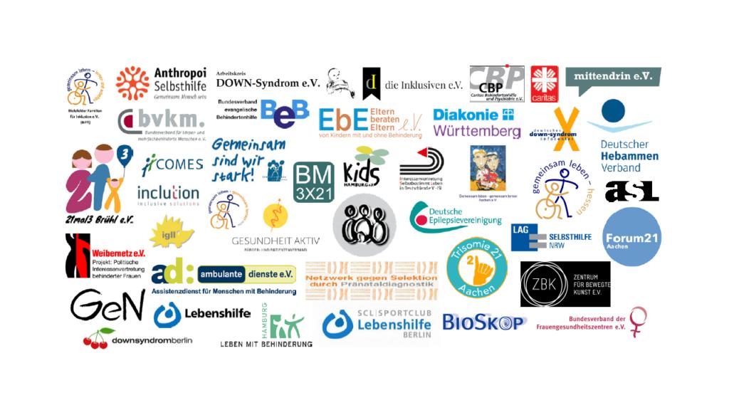 Logos der Unterzeichner des Positionspapiers